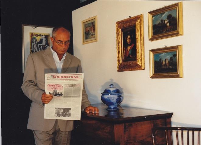 L'editore Rudy Ciuffardi e il suo Polpopress